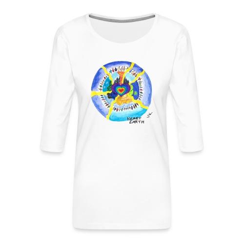 HEART EARTH - Frauen Premium 3/4-Arm Shirt