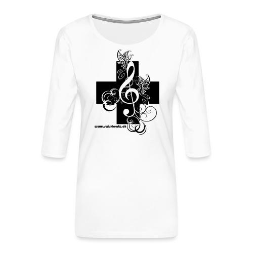 Swiss Beatz Logo non L - Frauen Premium 3/4-Arm Shirt