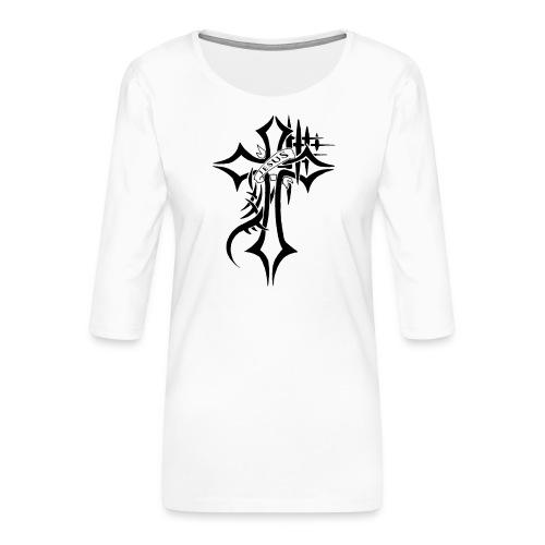 cross - Premium T-skjorte med 3/4 erme for kvinner