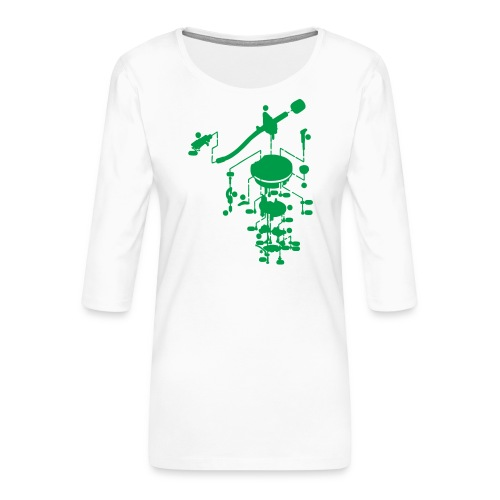 tonearm05 - Vrouwen premium shirt 3/4-mouw