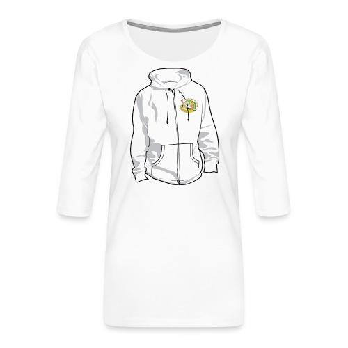 hoodyfront - Vrouwen premium shirt 3/4-mouw