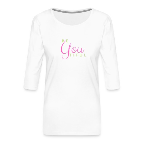BeYouTiful grün-pink - Frauen Premium 3/4-Arm Shirt