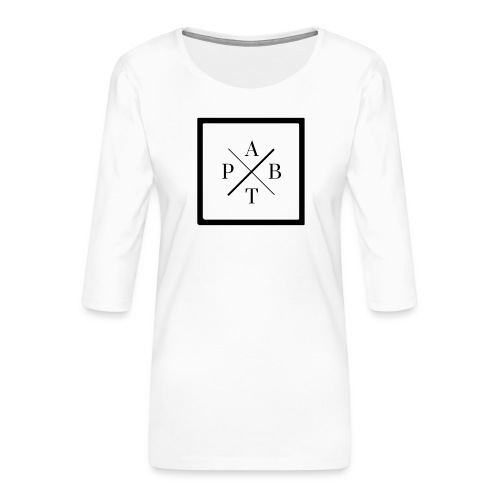 Transparent - Women's Premium 3/4-Sleeve T-Shirt
