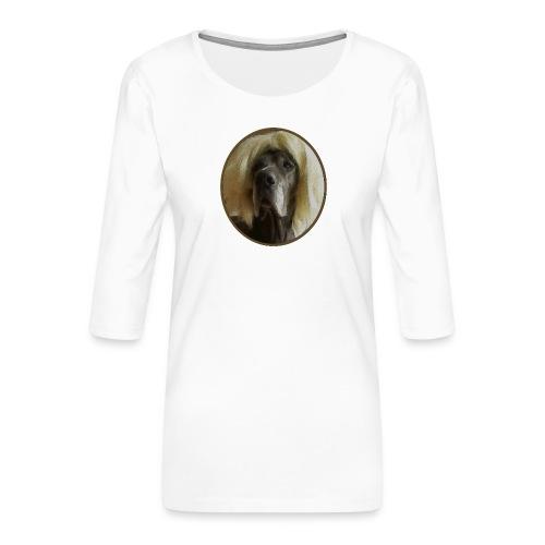 D O G G E mit Perücke - Frauen Premium 3/4-Arm Shirt