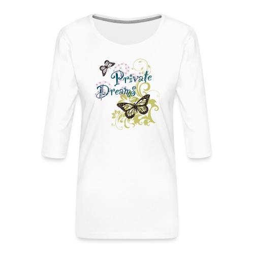 Free butterfly - Women's Premium 3/4-Sleeve T-Shirt