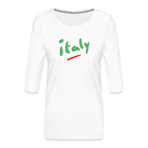 italy - Camiseta premium de manga 3/4 para mujer