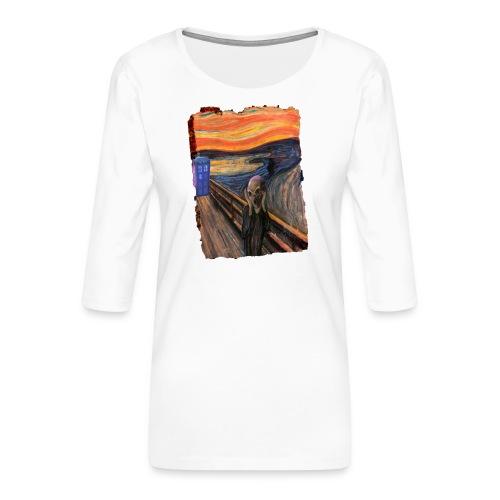 Screaming Tardis - Women's Premium 3/4-Sleeve T-Shirt