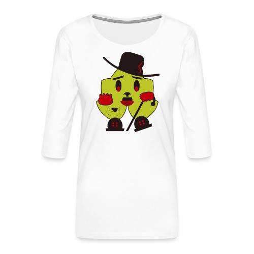 charly, charlot, ecológico y simpático - Camiseta premium de manga 3/4 para mujer