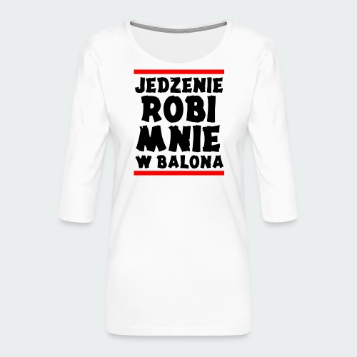 Damska Koszulka Premium JRBWB - Koszulka damska Premium z rękawem 3/4