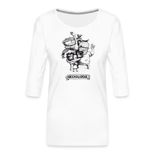 Illu Geeksleague - T-shirt Premium manches 3/4 Femme