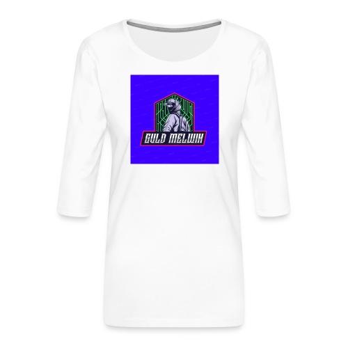 Guld Melwin - Premium-T-shirt med 3/4-ärm dam