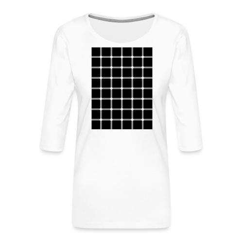 spikkels - Vrouwen premium shirt 3/4-mouw