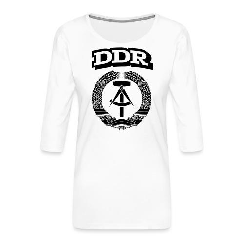 DDR T-paita - Naisten premium 3/4-hihainen paita
