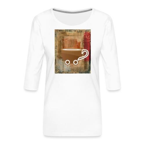 vintage coffee - Frauen Premium 3/4-Arm Shirt