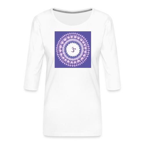 Sahasrara - Crown Chakra - Naisten premium 3/4-hihainen paita