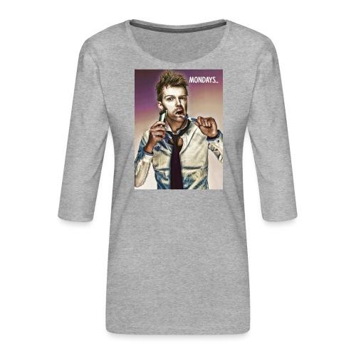 Rush hour on monday - Women's Premium 3/4-Sleeve T-Shirt