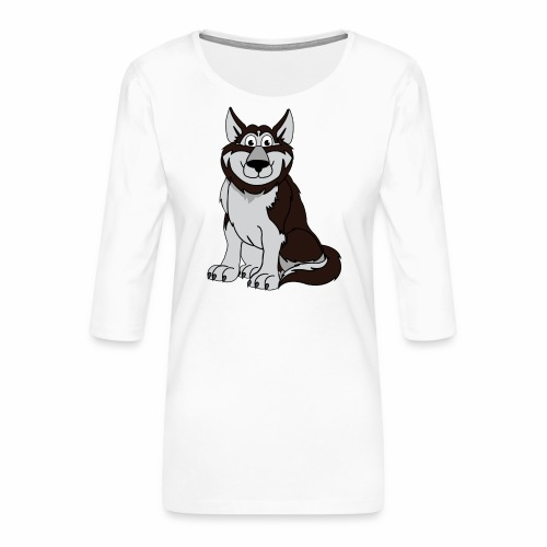 Husky - Frauen Premium 3/4-Arm Shirt