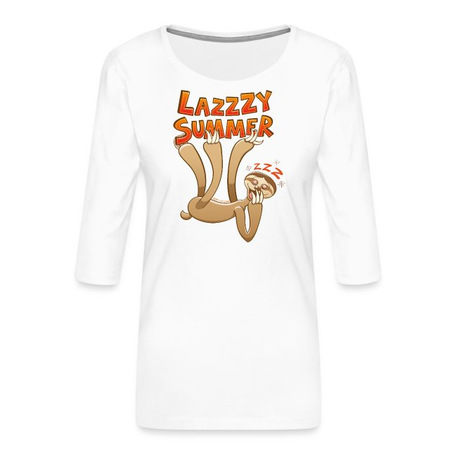 Sleepy sloth yawning and enjoying a lazy summer