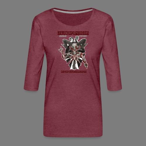 legion_line_up_final_ - Vrouwen premium shirt 3/4-mouw