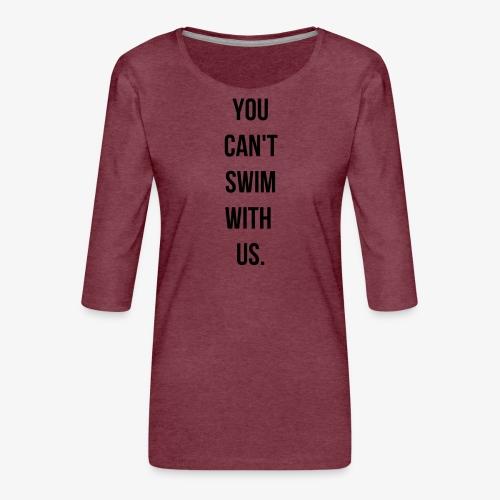 swim - T-shirt Premium manches 3/4 Femme
