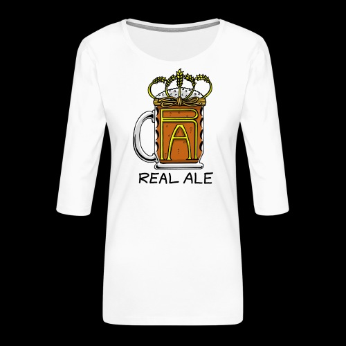 Real Ale - Women's Premium 3/4-Sleeve T-Shirt