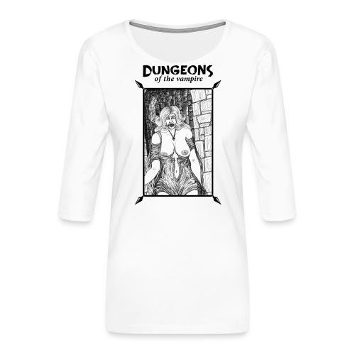 catacombs vampire black version - Women's Premium 3/4-Sleeve T-Shirt