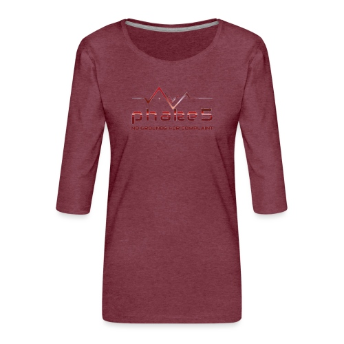 transparent - Premium-T-shirt med 3/4-ärm dam
