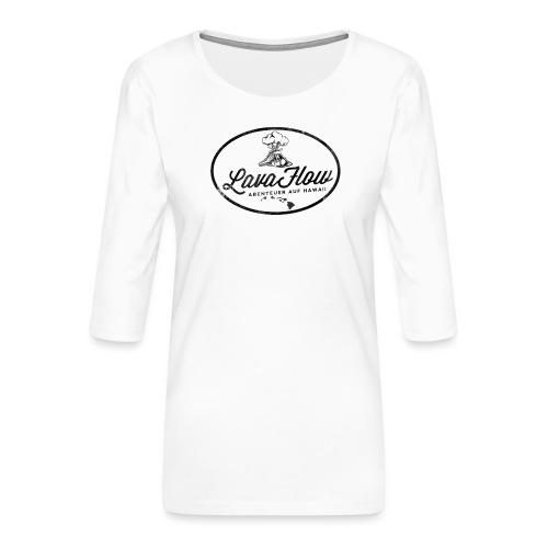 Hawaii Lavaflow Vintage - Frauen Premium 3/4-Arm Shirt