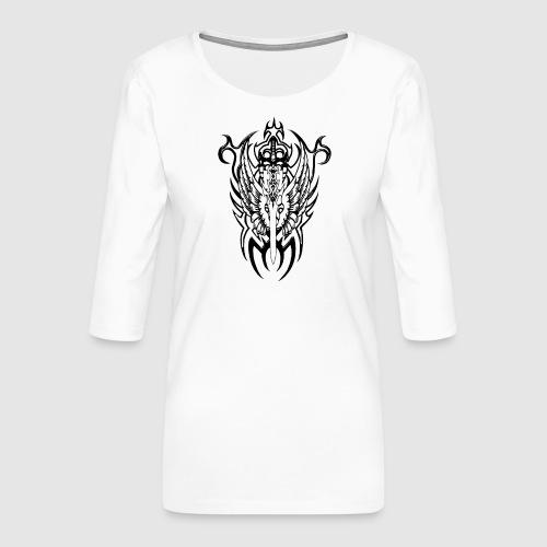 Tattoo Style - Frauen Premium 3/4-Arm Shirt