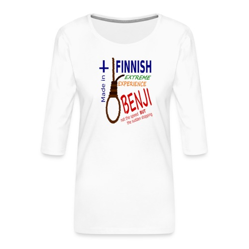 FINNISH-BENJI - Women's Premium 3/4-Sleeve T-Shirt