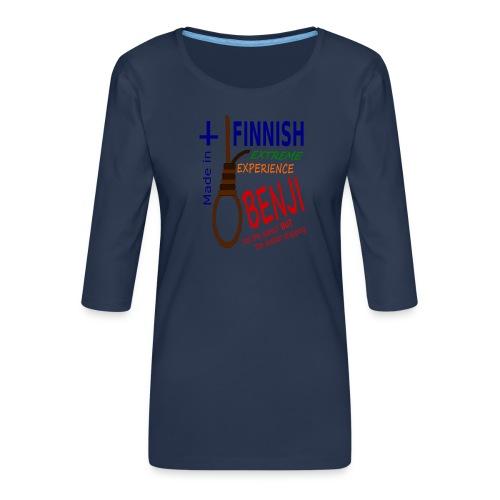 FINNISH-BENJI - Women's Premium 3/4-Sleeve T-Shirt