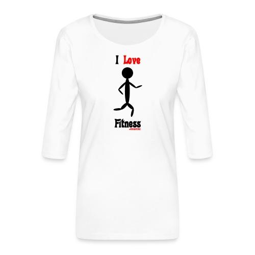 Fitness #FRASIMTIME - Maglietta da donna premium con manica a 3/4