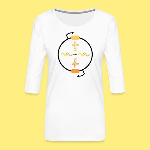 Biocontainment tRNA - shirt women - Vrouwen premium shirt 3/4-mouw