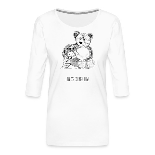 bear best friend - Frauen Premium 3/4-Arm Shirt