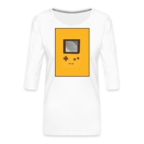 Game Boy Nostalgi - Laurids B Design - Dame Premium shirt med 3/4-ærmer