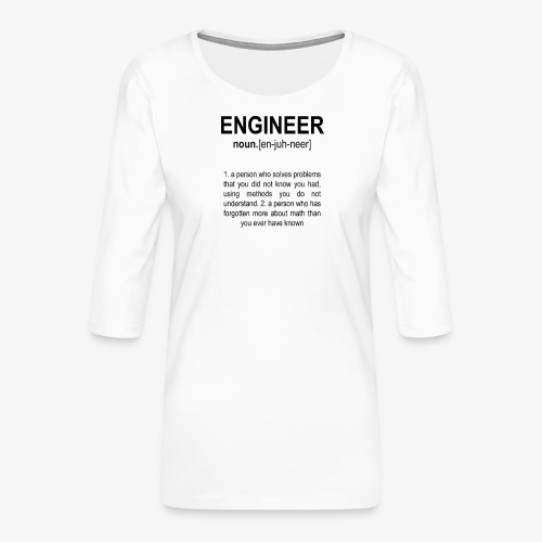 Engineer Def. 2 Black - T-shirt Premium manches 3/4 Femme