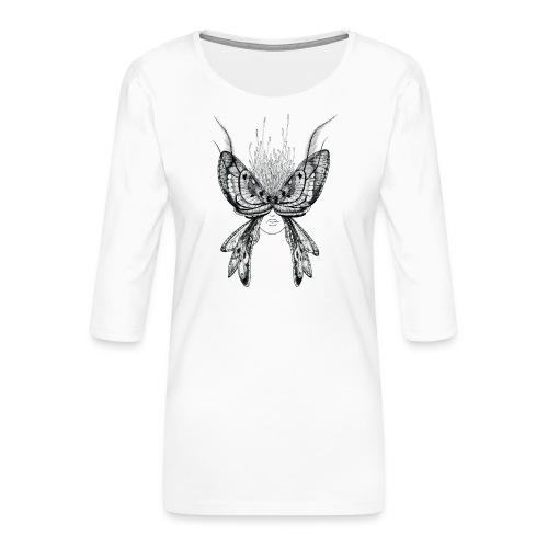 Nachtfalter - Frauen Premium 3/4-Arm Shirt