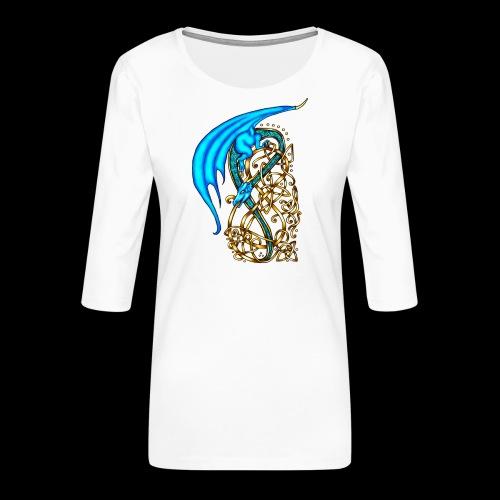 Celtic Dragon - Women's Premium 3/4-Sleeve T-Shirt