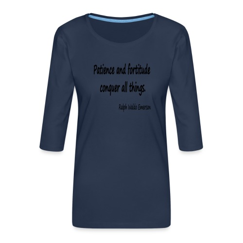 Peace and Patience - Women's Premium 3/4-Sleeve T-Shirt