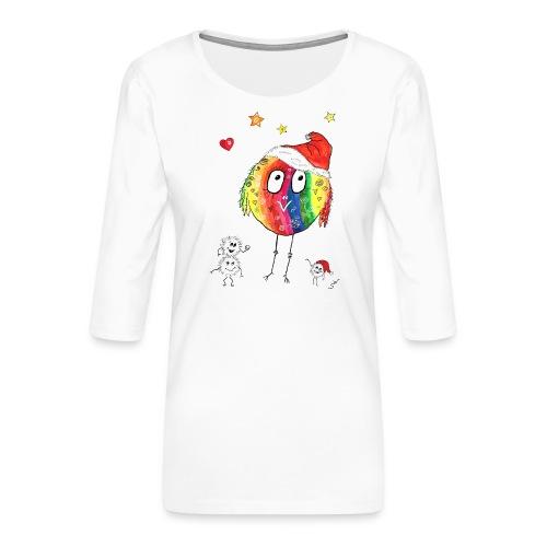 Happy Weihnachtskugelbird - Frauen Premium 3/4-Arm Shirt