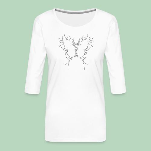 Vlinder Butterfly - Vrouwen premium shirt 3/4-mouw