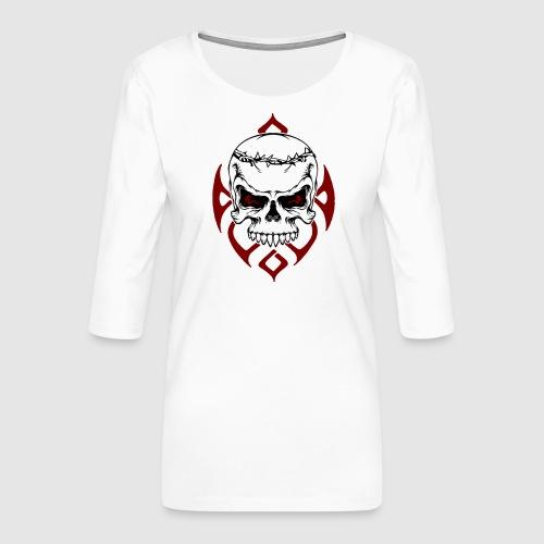 Totenkopf - Frauen Premium 3/4-Arm Shirt