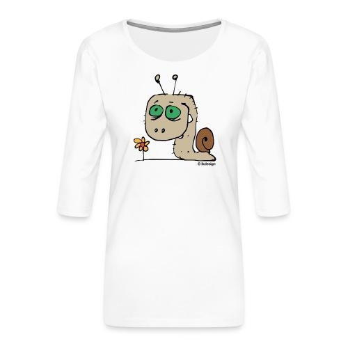 Schnecky - Frauen Premium 3/4-Arm Shirt