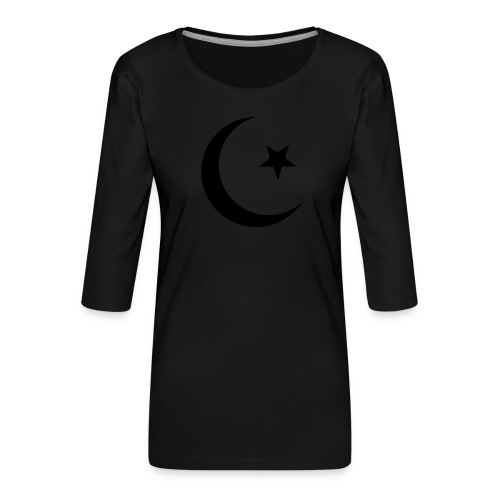 islam-logo - Women's Premium 3/4-Sleeve T-Shirt