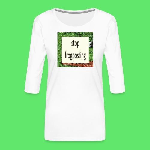 Frogposter - Women's Premium 3/4-Sleeve T-Shirt