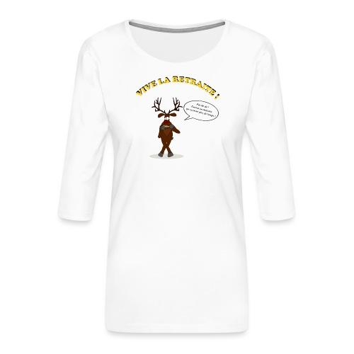 retraite de chasseur - T-shirt Premium manches 3/4 Femme