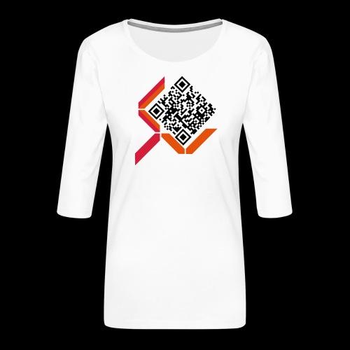 qrcodelogo - Frauen Premium 3/4-Arm Shirt