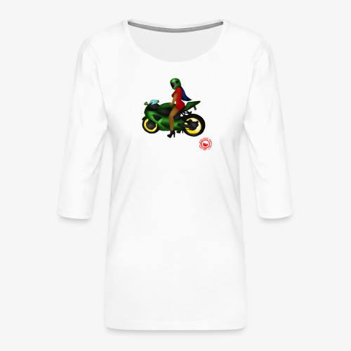 moto - Women's Premium 3/4-Sleeve T-Shirt