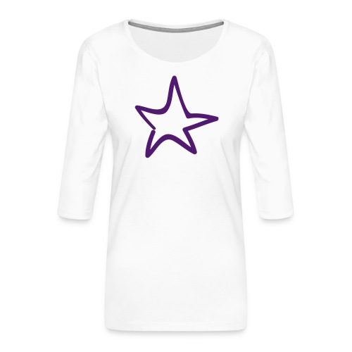 Star Outline Pixellamb - Frauen Premium 3/4-Arm Shirt