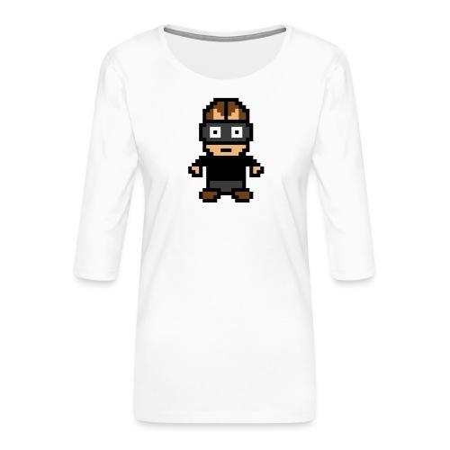Die Zock Stube - Pixel Patrick - Frauen Premium 3/4-Arm Shirt
